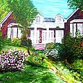 Country Estate In Spring by Eloise Schneider Mote