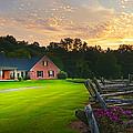Country Estate Sunset by Randall Branham