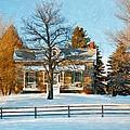Country Home Impasto by Steve Harrington