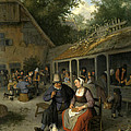 Country Inn by Cornelis Dusart