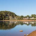 Country Lake Scene by John M Bailey