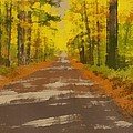 Country Road In Autumn by Dan Sproul