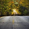 Country Road In Fall by Roger Passman