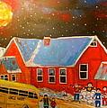 Country Schoolyard Memories by Michael Litvack