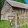 Country Weathered Barn by Mary Almond