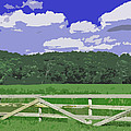 Countryside Scene Digital Painting by Minding My  Visions by Adri and Ray