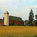 County Barn - Digital Painting Effect by Rhonda Barrett