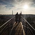 Couple Admiring The Cityscape by Alfio Finocchiaro