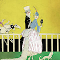 Couple At The Races, 1916 by Granger