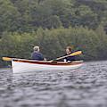 Couple Boating On Lake, Maine, Usa by David McLain