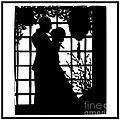 Couple In Love Silhouette by Rose Santuci-Sofranko