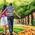 Couple In The Park 01 by Tim Gilliland