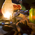 Couple Reading By Lantern, India by Gabe Rogel