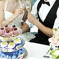 Couple Toasting At Wedding by Jacek Malipan