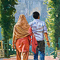Couple Under The Leafy Arch by Dominique Amendola