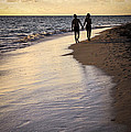 Couple Walking On A Beach by Elena Elisseeva