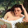 Courbet's A Young Woman Reading by Cora Wandel