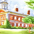 Courthouse In Summery Sun by Kip DeVore