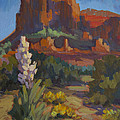 Courthouse Rock Sedona by Diane McClary