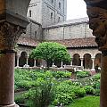 Courtyard At The Cloisters by Carol Ailles