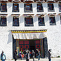 Courtyard Entry To Potala Palace In Lhasa-tibet by Ruth Hager