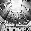 Courtyard In Black And White by Jaroslaw Blaminsky