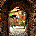 Courtyard Of Cathedral Of Ste-cecile In Albi France by Elena Elisseeva