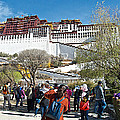 Courtyard Of Potala Palace In Lhasa-tibet by Ruth Hager