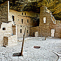 Courtyard Of Spruce Tree House On Chapin Mesa In Mesa Verde National Park-colorado  by Ruth Hager