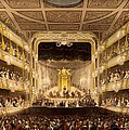 Covent Garden Theatre, From Microcosm by T. & Pugin, A.C. Rowlandson