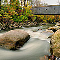Covered Bridge At Bull Run - Kent Connecticut by Thomas Schoeller