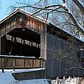 Covered Bridge At Christmas by Shelley Thomason
