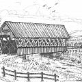 Covered Bridge Coventry Vermont by Richard Wambach