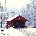 Covered Bridge In Winter by Jo-Ann Hayden