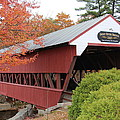 Covered Bridge N Conway by Jeffrey Akerson