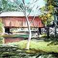 Covered Bridge Newport Nh by Art  Stenberg