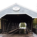 Covered Bridge North Conway Sacco River by Christiane Schulze Art And Photography