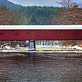 Covered Bridge Of West Cornwall-winter Panorama by Thomas Schoeller