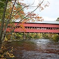 Covered Bridge Over Swift River by Christiane Schulze Art And Photography