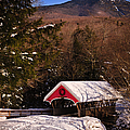 Covered Bridge Over The Pemigewasset Flume Gorge by Jeff Sinon