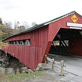 Covered Bridge Taftsville by Christiane Schulze Art And Photography