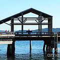 Covered Pier At Port Townsend by Connie Fox