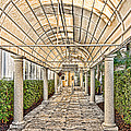 Covered Walkway by Les Palenik