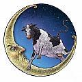 Cow And Moon by Chris Van Es