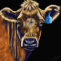 Cow Art - Lucky Number Seven by Michelle Wrighton