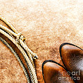 Cowboy Boots And Lasso by Olivier Le Queinec