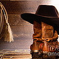Cowboy Hat On Boots by Olivier Le Queinec