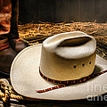 Cowboy Hat On Lasso by Olivier Le Queinec