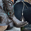 Cowboy Hat And Cowgirl Boots by Luv Photography