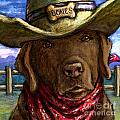 Cowboy Lab - Chocolate by Kathleen Harte Gilsenan